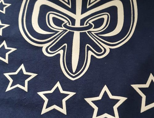 Serigrafía de camiseta para grupo scout