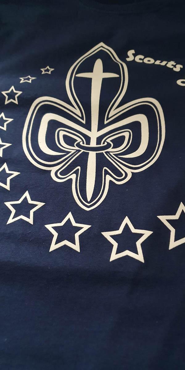 camiseta scout serigrafia