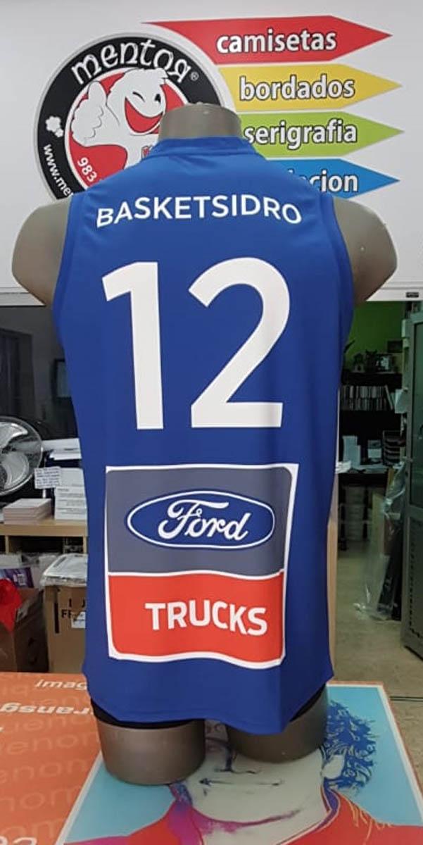 camiseta de baloncesto fabricada en sublimación