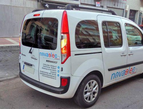 Rotulación de vehículo para la empresa Novaelec Sistemas
