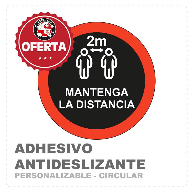 adhesivo circular antideslizante