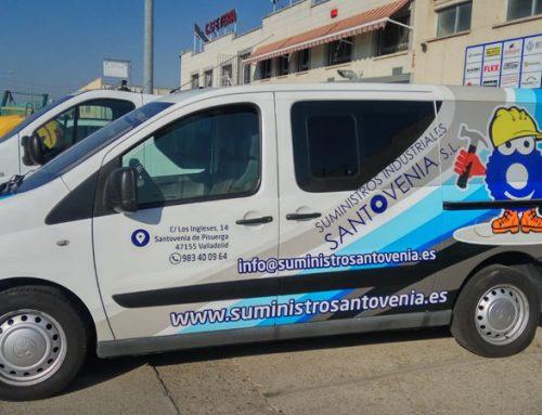 Rotulación de furgón para Suministros Industriales Santovenia
