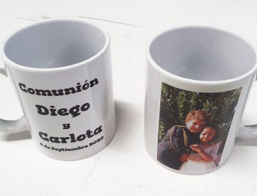 Tazas personalizadas para comuniones