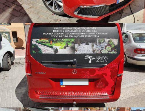 Rotulación de furgón para Jardines Zen de Valladolid