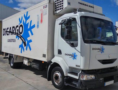 Rotulación de camión para flota de Dicargo