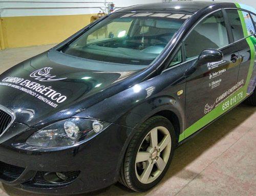 Rotulación de vehículo para empresa dedicada a la eficiencia energética