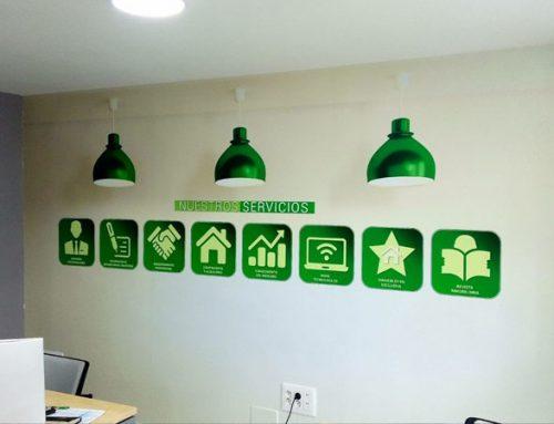 Iconos para pared de oficina