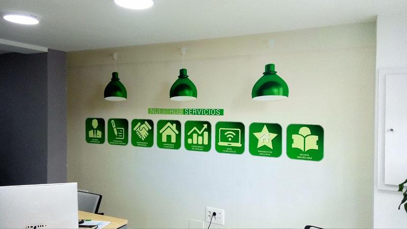Iconos empresa para pared