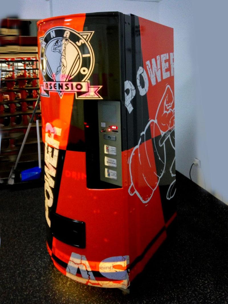 maquina de vending vinilada