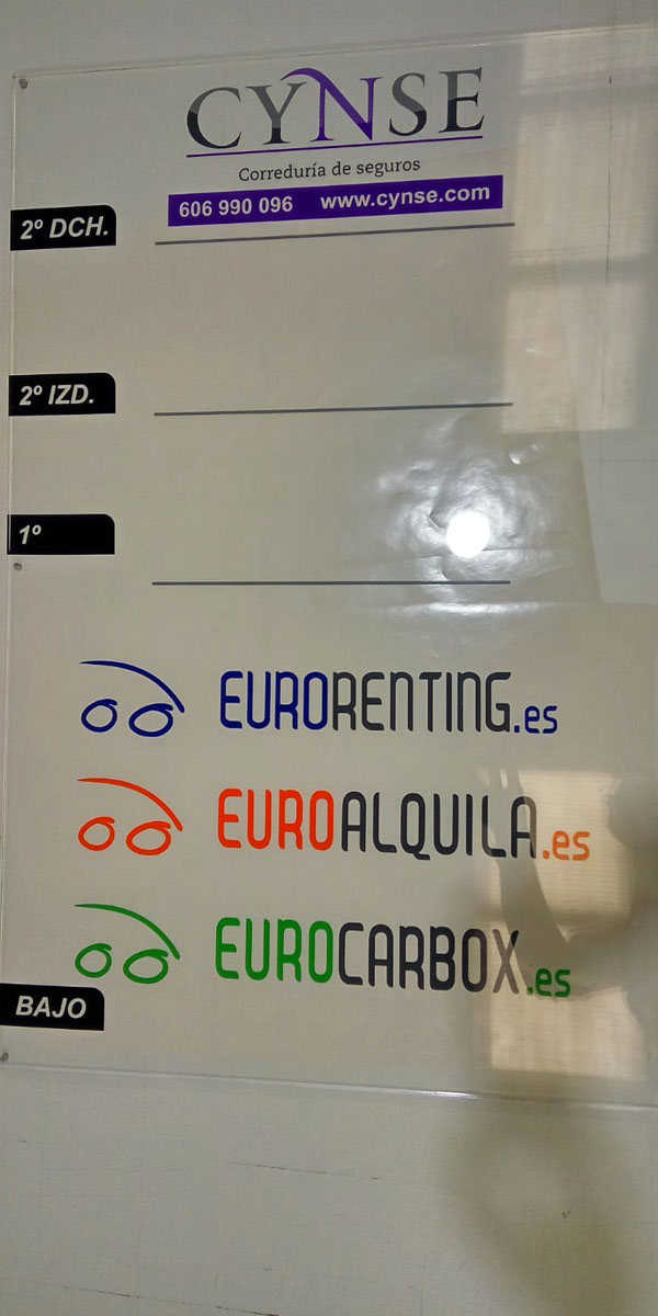 placas de metacrilato